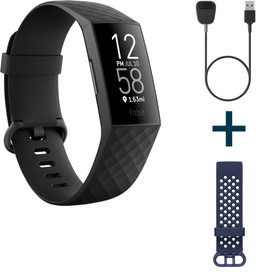Charge 4 Noir avec bracelet sport supplémentaire et câble de charge (Bundle) Activity Tracker Fitbit 798759300000 Photo no. 1