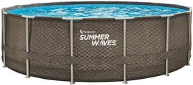 Piscina in tubi d'acciaio effetto rattan 488x122cm Summer Waves 647324600000 N. figura 1