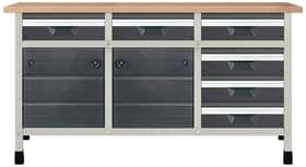 Werkbank No. 5 1610 x 650 x 860 mm 8079 Werkstatt-System Wolfcraft 601458400000 Bild Nr. 1