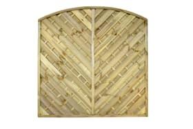 Panneau pare-vue en forme d'arc en diagonale