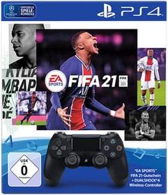 DualShock 4 Wireless Controller Jet Black: FIFA 21 Controller 795502400000 Bild Nr. 1