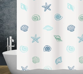 Duschvorhang Mare diaqua 674084300000 Farbe Weiss-Blau Grösse 240 x 180 cm Bild Nr. 1