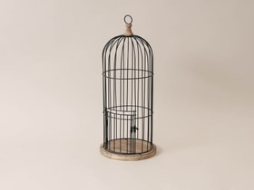 Gabbia decorativa per uccelli Gabbia per uccelli I AM CREATIVE 657690800000 Colore Nero Taglio ø: 20.0 cm x A: 54.0 cm N. figura 1