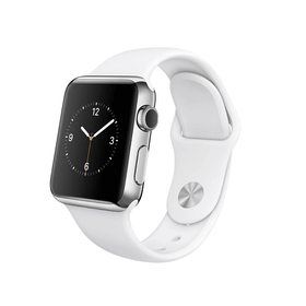 Apple Watch, 38mm Stainless Steel Case with blanc Sport Band Apple 79787820000015 Photo n°. 1