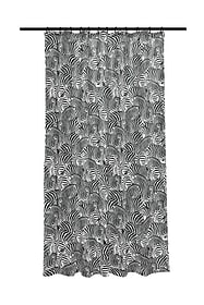 Tenda doccia Zebra nero-bianco 180x200cm Kleine Wolke 674139300000 N. figura 1