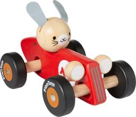 PUSH & PULL Macchina da corsa lepre Plan Toys 404731002430 Dimensioni L: 11.5 cm x P: 18.0 cm x A: 13.0 cm Colore Rosso N. figura 1