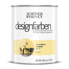 Designfarbe Goldgelb 1 l Pittura per pareti Schöner Wohnen 660992300000 Contenuto 1.0 l N. figura 1