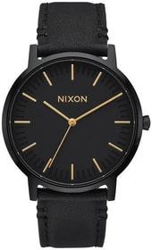Porter Leather All Black Gold 40 mm Orologio da polso Nixon 785300137045 N. figura 1