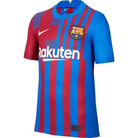 FC Barcelona 2021/22 Stadium Home Kids' Soccer Jersey Fussball Clubshirt Nike 466875812833 Grösse 128 Farbe Dunkelrot Bild-Nr. 1