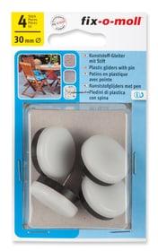 Kunststoffgleiter mit Stift 4 mm / Ø 30 mm 4 x Kunststoffgleiter Fix-O-Moll 607085100000 Bild Nr. 1