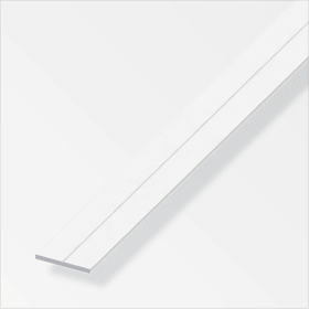 Barre plate 1.5 x 7.5 mm PVC blanc 1 m alfer 605118900000 Photo no. 1