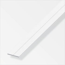 Flachstange 2 x 11.5 mm PVC weiss 1 m alfer 605119000000 Bild Nr. 1