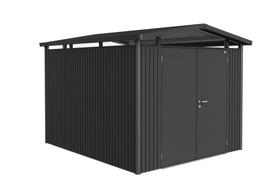 Casetta Panorama P5, porta doppia Biohort 647252800000 Colore Grigio Scuro-Metallico Copertura di tetto Tetto in lamiera zincata N. figura 1