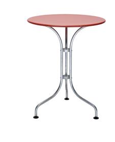 BAHAMAS Ø60 x 72 cm Tavolino da bistrò Schaffner 753113700000 Taglio A: 72.0 cm Colore Rosso N. figura 1