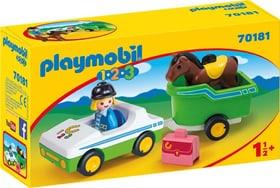 70181 PKW mit Pferdeanhänger PLAYMOBIL® 747337900000 Bild Nr. 1