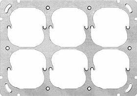 Edizio Due UP 6-fach horizontal Montageplatte Feller 612186100000 Bild Nr. 1