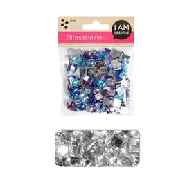 STRASS.ANGULAIRE ARGENT-MIX