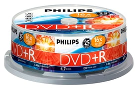 DVD+R 4.7 GB 25-Spindel DVD Rohlinge Philips 787241700000 Bild Nr. 1