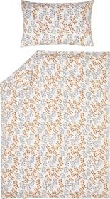 LUNARIA Housse de couette satin 451195512370 Couleur Marron Dimensions L: 160.0 cm x H: 210.0 cm Photo no. 1