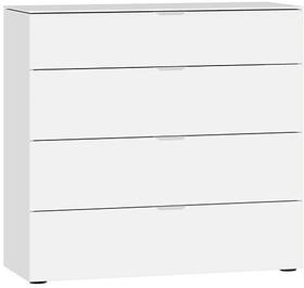MODUL Cassettone 404546500000 Dimensioni L: 90.0 cm x P: 43.0 cm x A: 87.0 cm Colore Vetro bianco satinato N. figura 1