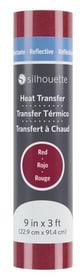 Film thermocollant 22.9 cm x 91.4 cm Rouge, réfléchissant Feuille Silhouette 785300141876 Photo no. 1