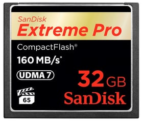 ExtremePro 160MB/s Compact Flash 32GB SanDisk 785300124249 Photo no. 1