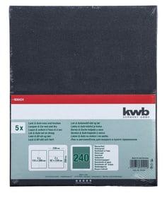 Carta abrasiva per venice GR. 240, 5 pz. kwb 610553500000 N. figura 1