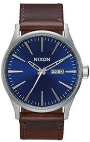 Sentry Leather Blue Brown 42 mm Orologio da polso Nixon 785300136961 N. figura 1