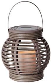 Lampe solaire LED lantern brun