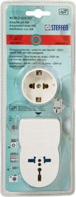 World Socket Adapter mit USB Reiseadapter Steffen 612064900000 Bild Nr. 1