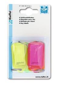Etiketten Neon, 4 Stk. Schlüsselanhänger Rieffel 605605900000 Bild Nr. 1