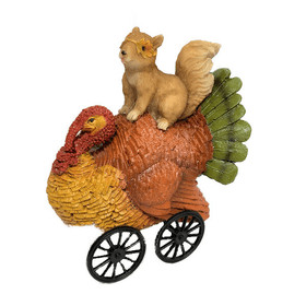 Truthahn mit Eichhörnchen Deko Figur Do it + Garden 657348400000 Bild Nr. 1