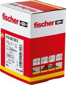 Nageldübel N 6 x 60/30 inkl. Schrauben Nageldübel fischer 605442300000 Bild Nr. 1