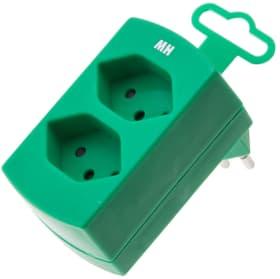 Fiche Multiple 2 x T13 vert