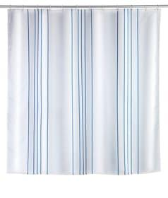 Tenda doccia Linen blu WENKO 674012100000 N. figura 1