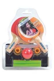 2 Mini-TT-Schläger, 1 Mini-TT-Ball, Netz mit Pfosten im Blister
