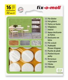 Filzgleiter 3 mm / Ø 22 mm 16 x Möbelgleiter Fix-O-Moll 607067300000 Bild Nr. 1