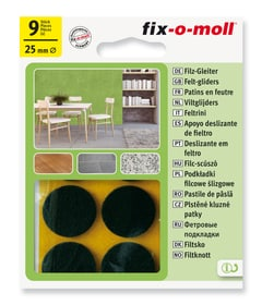 Patins de feutre 3 mm / Ø 25 mm 9 x Fix-O-Moll 607067700000 Photo no. 1