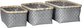 ALVARO Korb-Set 442085500980 Farbe Grau Grösse B: 25.0 cm x T: 34.0 cm x H: 15.0 cm Bild Nr. 1