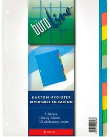 Register Karton farbig A4 604192 10-teilig Register Karton Büroline 785300150589 Bild Nr. 1