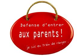 Emailschild Défense d'entrer aux parents! 605078100000 Bild Nr. 1