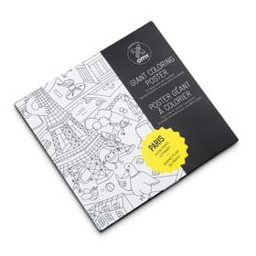 "GIANT COLORING Ausmalposter ""Paris"" 386184200000 Grösse B: 70.0 cm x T: 100.0 cm x H: 0.1 cm Farbe Weiss Bild Nr. 1"