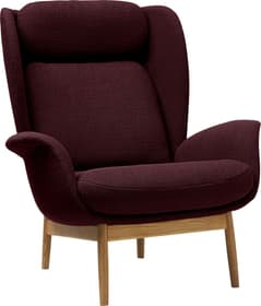 FRITZ Fauteuil 402482107034 Dimensions L: 93.0 cm x P: 90.0 cm x H: 102.0 cm Couleur Bordeaux Photo no. 1
