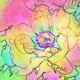 Avantgarde Tovaglioli Saison, 20 Stk. 33x33 cm, Flower Spirit Feldner + Partner 665744700000 N. figura 1