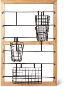 Mensola con cestini e bicchieri 98x62x20cm