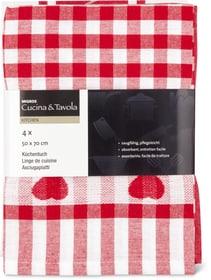 Set de torchon de cuisine Cucina & Tavola 700347800030 Couleur Rouge / Blanc Dimensions L: 50.0 cm x H: 70.0 cm Photo no. 1