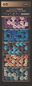 Kunststoff Perlen, bunt mit Punkten 10mm, 5-fach sort, 50g 608107600000 Bild Nr. 1