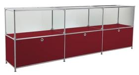 FLEXCUBE Buffet 401814530230 Dimensions L: 227.0 cm x P: 40.0 cm x H: 80.5 cm Couleur Rouge Photo no. 1