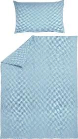 VERA Parure de lit en microfibre 451293714440 Couleur Turquoise Dimensions L: 160.0 cm x H: 210.0 cm Photo no. 1