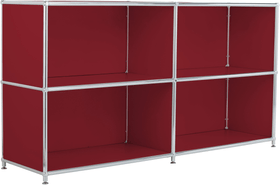 FLEXCUBE Buffet 401808900030 Dimensions L: 152.0 cm x P: 40.0 cm x H: 80.5 cm Couleur Rouge Photo no. 1